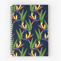 'Bird of Paradise' Spiral Notebook by noondaydesign