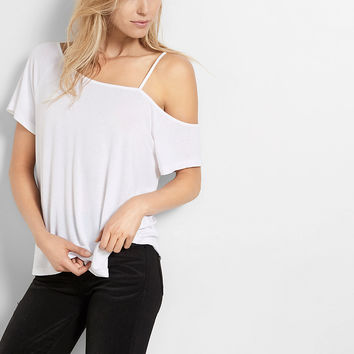Express One Eleven Cut-Out One Shoulder Tee