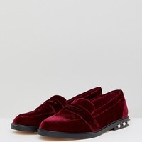 Stradivarius Pearl Detail Loafer at asos.com