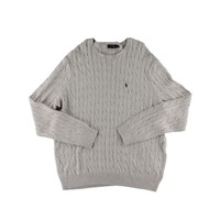 Polo Ralph Lauren Mens Big & Tall Cable Knit Heathered Crewneck Sweater
