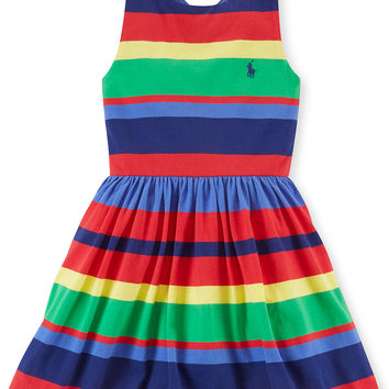 Ralph Lauren Little Girls' Striped Tank Dress