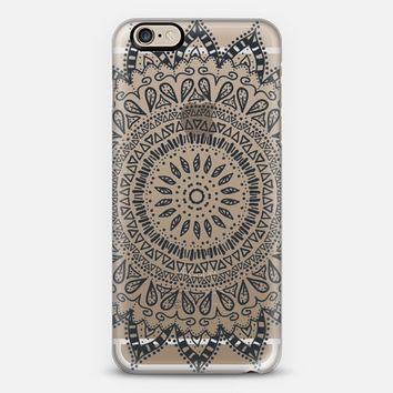 BOHEMIAN FLOWER MANDALA - CRYSTAL CLEAR PHONE CASE iPhone 6 case by Nika Martinez | Casetify