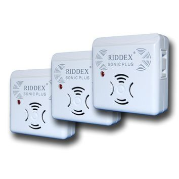 Set of 3 Riddex Sonic Electronic Rodent and Pest Repellers