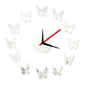 New Butterfly Interior Wall Decoration Clock