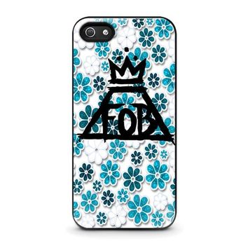 fall out boy floral iphone 5 5s se case cover  number 1