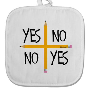 Charlie Charlie Challenge White Fabric Pot Holder Hot Pad