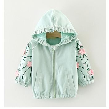 Baby girl spring and autumn coat trench coat