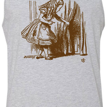 Alice in Wonderland - Looking for The Door (Brown) Tank-Top T-Shirt