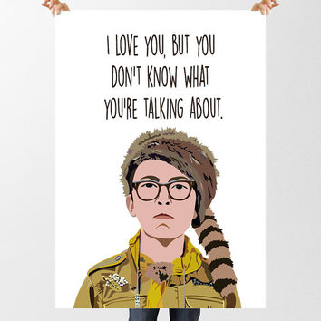 Moonrise Kingdom Printable Poster, INSTANT DOWNLOAD, Movie Poster Quotation, High Resolution Files, Sam Shakusky, Wes Anderson, Wall Art
