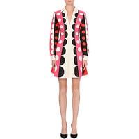 VALENTINO - Spot-detail wool and silk-blend dress | Selfridges.com