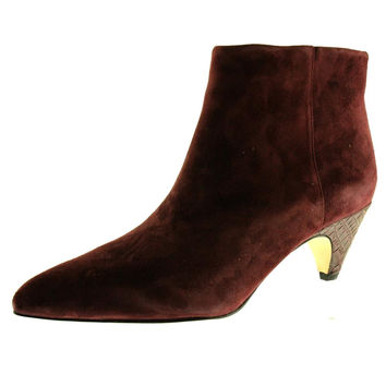 Sam Edelman Womens Suede Pointed Toe Ankle Boots