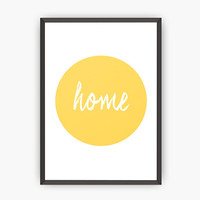 Home poster, Housewarming poster, Typography art print, Positive art print, Quote art, Home print, Minimalist art, Home decor, Gift print