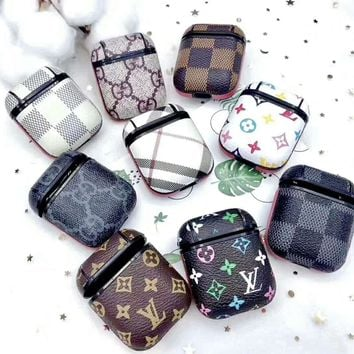 LV GUCCI Burberry Tide Brand AirPods Bluetooth Wireless Headset Cover Slip Storage Cover (No Headphones)