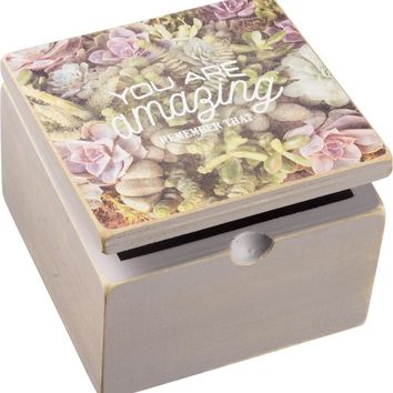 You Are Amazing - Remember That Wooden Hinged Box in Floral