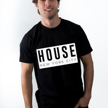 Men's Shirt | Black HOUSE New York City Block