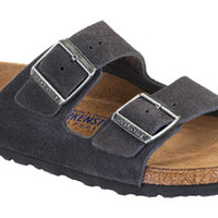 Birkenstock Soft Footbed Velvet Gray Suede Arizona