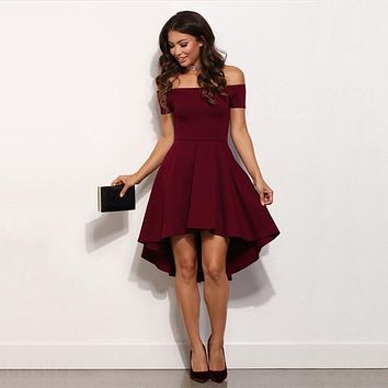Sexy Off Shoulder Elegant Casual Party Dress