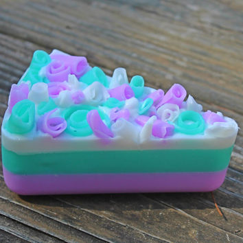 fake cake, fake cupcake birthday photo prop, first birthday, birthday prop, party favors, mermaid birthday, fake soap, cake soap, dessert