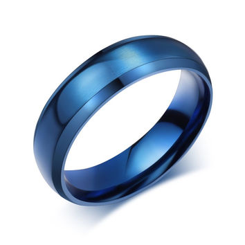 Simple Ring Stainless Steel Rings For Men Women Finger Jewelry Classic Wedding Engagement Wedding Bands