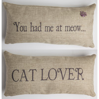 you had me at meow cat pillow