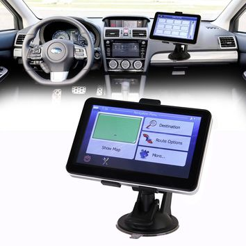 "5"" HD Touch Screen Car GPS Navigation w/ Free Maps Sat Nav Car-charger"