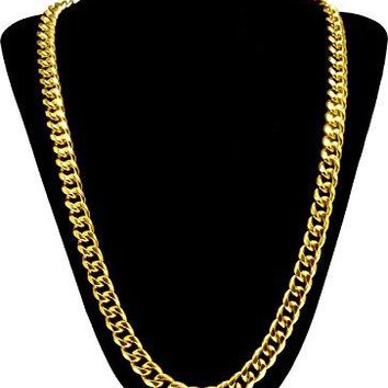 18k Gold Plated Cuban Link Chain Necklace