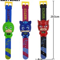 Free Dropshipping Children's Pj Cartoon Catboy Party Watch Gekko Cloak Masked Characters Action Figure Toys Boy Birthday Gift
