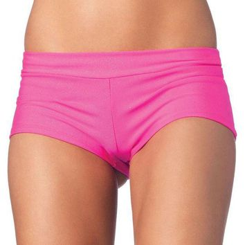 DCCKLP2 Spandex boy shorts short. in PINK