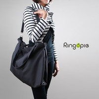 Sale-Ready To Ship-Charcoal Gray with handle and removable/adjustable strap canvas tote/messenger/school bag/laptop bag/For Her/For Him-045