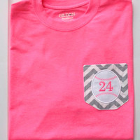 Chevron Pocket Baseball or Softball Tee