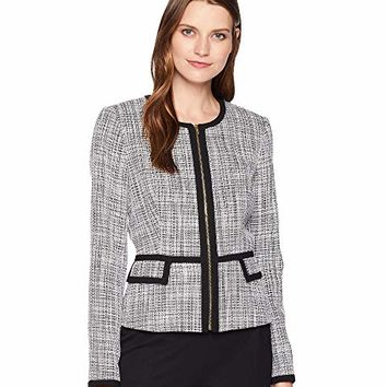 Calvin Klein Novelty Zip Front Jacket