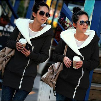 Women Long Hooded Coats Plus Size