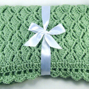 Made to order, you pick colors, Newborn Crochet Car Seat Afghan, Crochet Baby Blanket