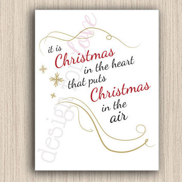 Christmas in the Air - Printable File - Christmas Decor - Home Decor