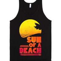 Sun of a Beach (Dark)-Unisex Black Tank