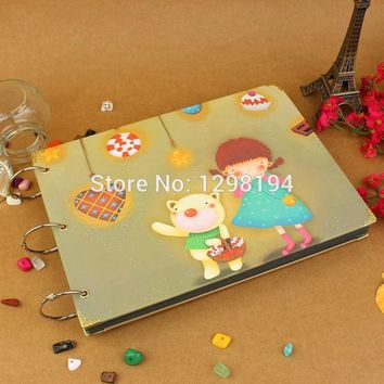 DIY Photo Album Scrapbook Paper Crafts for baby picture photograph sticker Free shipping
