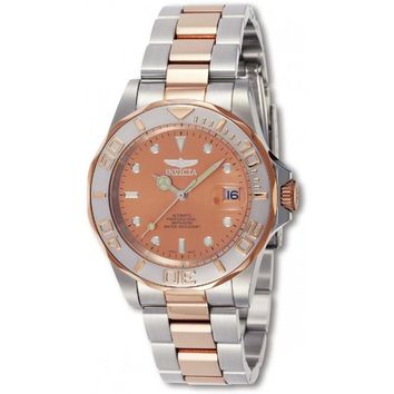 Invicta Men's 9423 Pro Diver Automatic 3 Hand Rose Gold Dial Watch