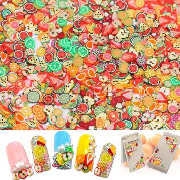 1000pc/lots Dia 5mm Polyme Clay Fimo Fruit Slice Beads Thin For Mobile Phone Case 3d Nail Art Salon Dedoration Craft Accessories