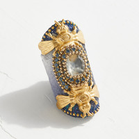 Free People Royal Bee Silk Velvet Ring