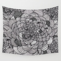 Ink flowers Wall Tapestry by Akwaflorell