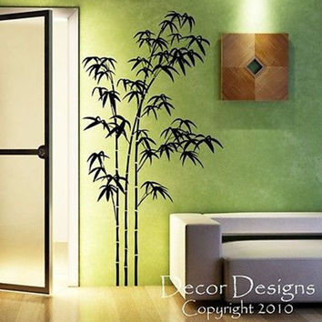 Large Bamboo Vinyl Wall Decal Sticker