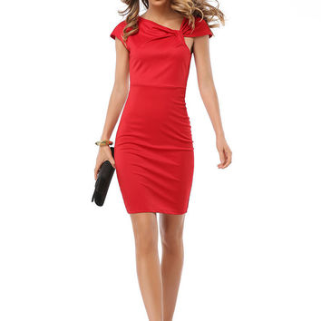 plus size bodycon dress women Bowknot Vintage Office business bandage Dresses work elegant midi sheath pencil dress vestidos