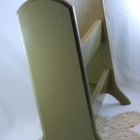 Vintage Painted Wooden Table Top Bookshelf Small Painted Vintage Bookcase