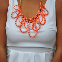 RESTOCK: Pretty In Coral Pastel Necklace | Hope's