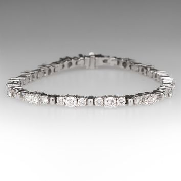 5.5 Carat Diamond Tennis Bracelet 14K