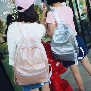 Comfort Casual Hot Deal Back To School College On Sale Korean Stylish PU Leather Vintage Backpack [8384135047]