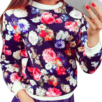 Floral Long Sleeve Sweatshirt