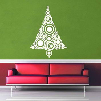 Circles - Christmas Tree - Wall Decal$8.95