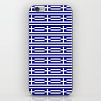 flag of greece 2-Greece,flag of greece,greek,Athens,Thessaloniki,Patras,philosophy,theater,tragedy iPhone Skin by oldking