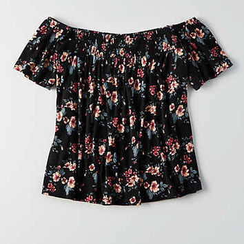 AEO Off-The-Shoulder Top, Urban Black